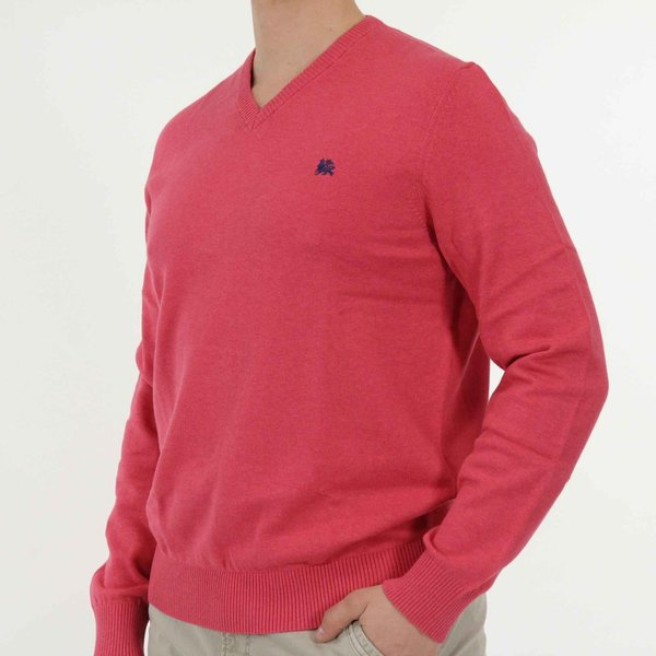 Basic Strickpullover, V-Neck